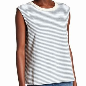 Current/Elliot Striped Scoop Neck Tank Top